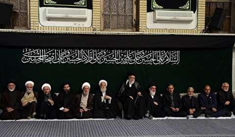 إقامة مراسم العزاء بمناسبة اربعينية الامام الحسين عليه السلام بحضور قائد الثورة