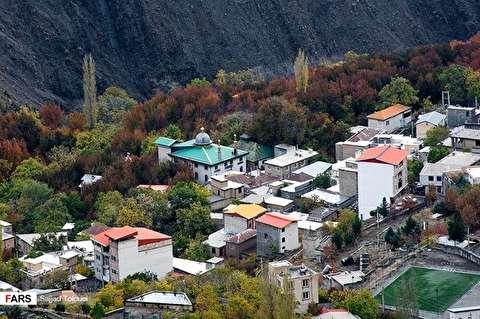 الخريف في قريتي «رندان» و « تالون» في ضواحي طهران