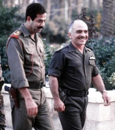 Image result for تشویق صدام در اردن