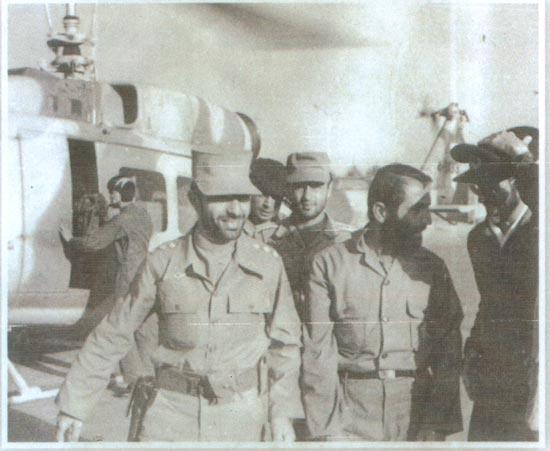 سردار همدانی به همراه شهید صیاد شیرازی و شهید محمود خضرائی