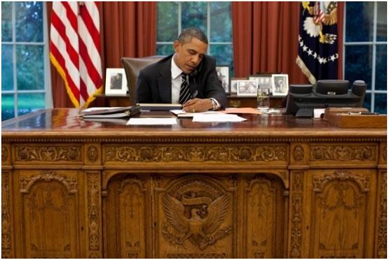 تصاویر اتاق کار باراک اوباما سایت خبری تحلیلی تابناك
