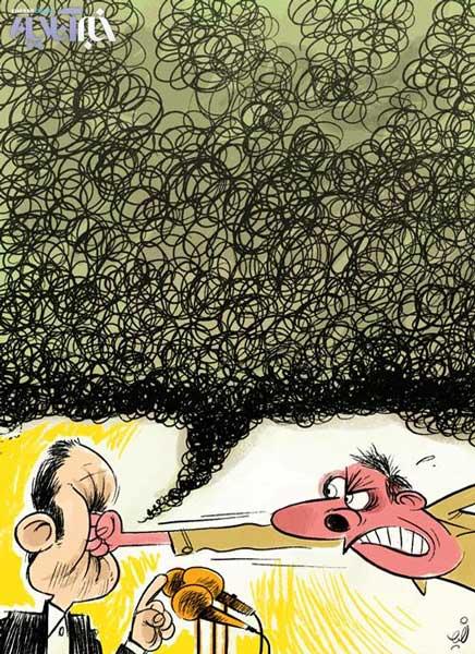 نتیجه تصویری برای کاریکاتور پرخاشگری