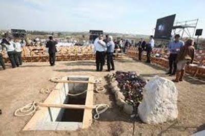 زمینلرزه عجیب در لحظه تدفین شارون