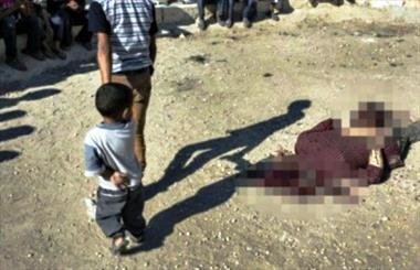 نالههای غمانگیز کودک سوری پیش از اعدام