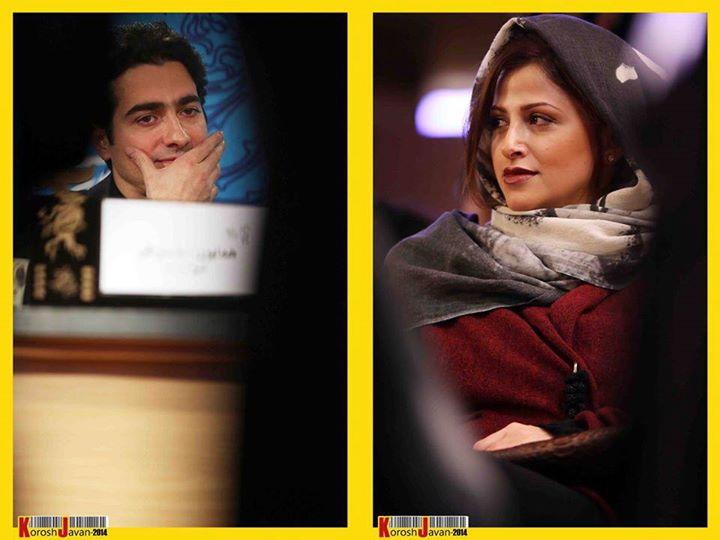 همایون شجریان و همسرش گیتا خوانساری در جشنواره فیلم