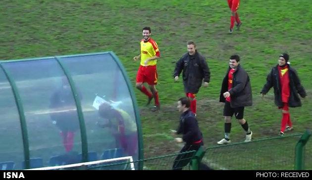 عجیب ترین شادی پس از گل در لیگ ایتالیا