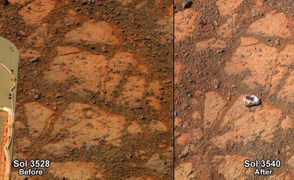 ظهور صخره اسرار آمیز بر روی مریخ