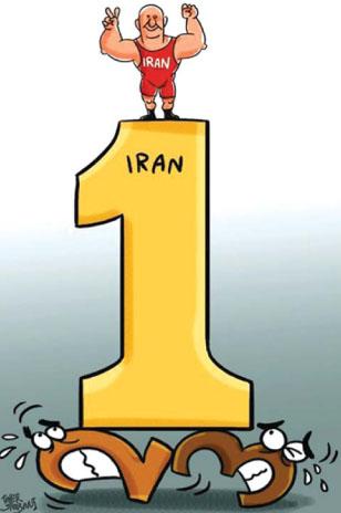 کارتون: قهرمانی ایران در جامجهانی کشتی آمریکا