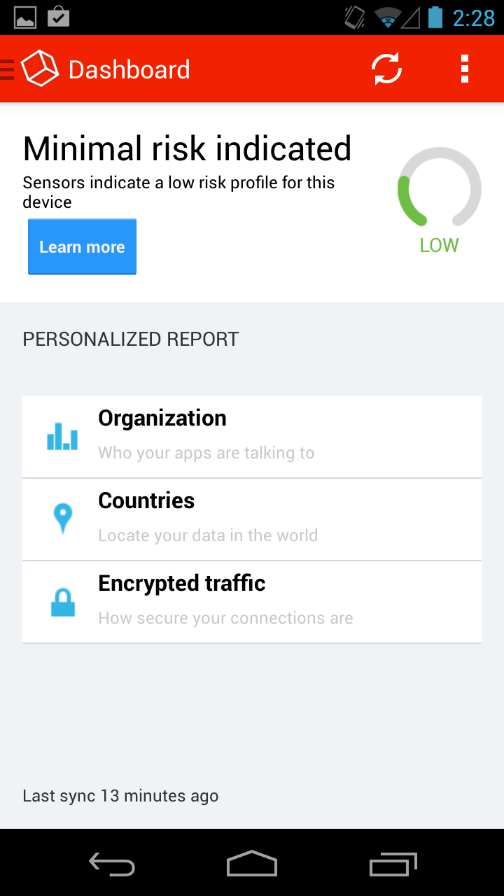 نرم افزار امنیتی برای جلوگیری از سرقت اطلاعات در اندروید