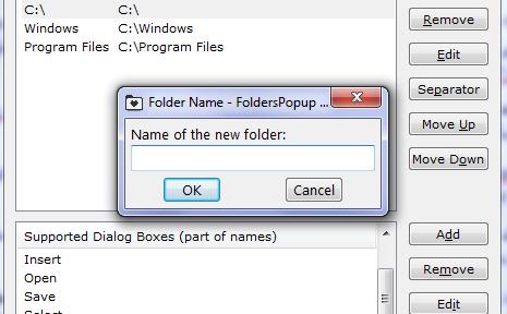 دسترسی سریع به پوشه ها با FoldersPopup