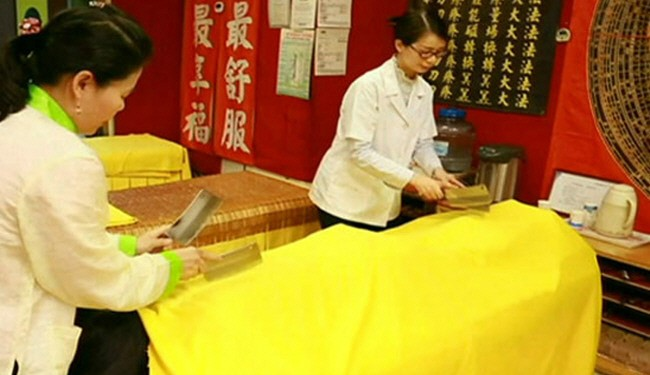 ماساژ با ساطور در تایوان + عکس