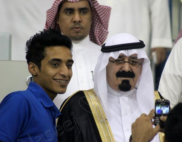 فرد شبیه به پادشاه عربستان