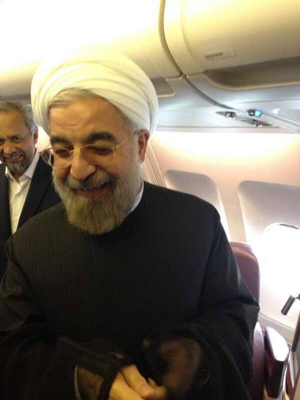 تصویر روحانی پس از گفتگوی تلفنی با اوباما