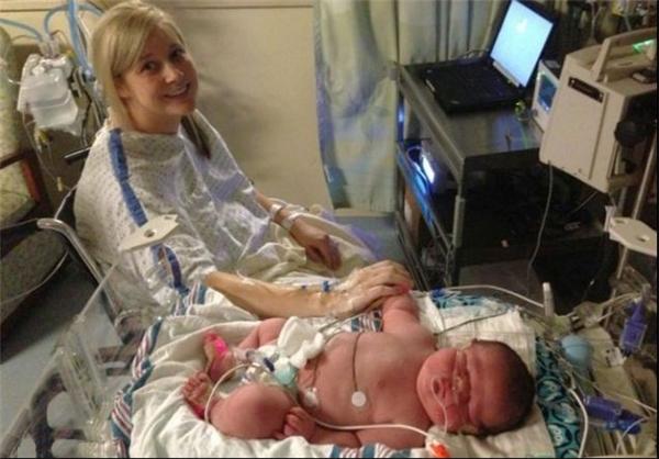 نوزاد ۶.۵ کیلویی در آمریکا به دنیا آمد+تصاویر