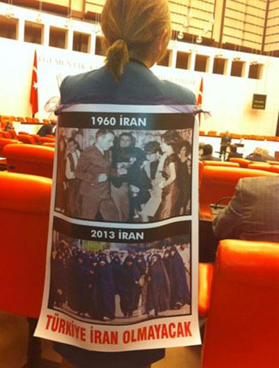 عکس نماینده مجلس ترکیه از حجاب زنان ایرانی