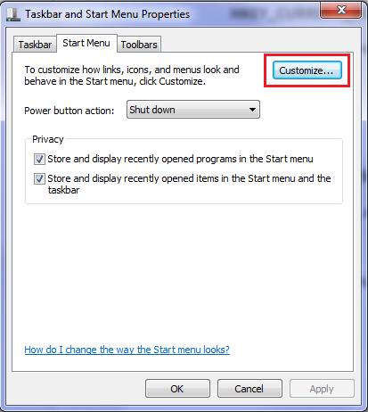هک رجیستری برای بازگرداندن All Programs در ویندوز 7