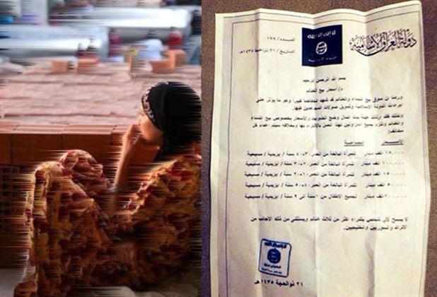 اعلام نرخ رسمی مبادله زنان توسط داعش