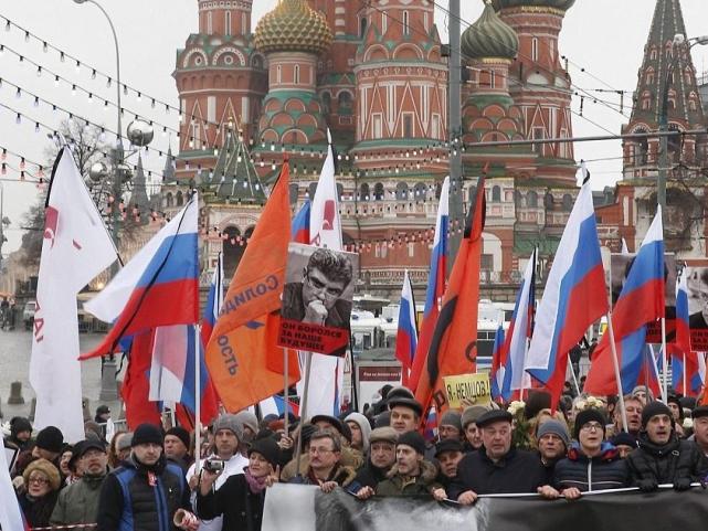 اعتراضات گسترده به قتل «نمتسف» در روسیه