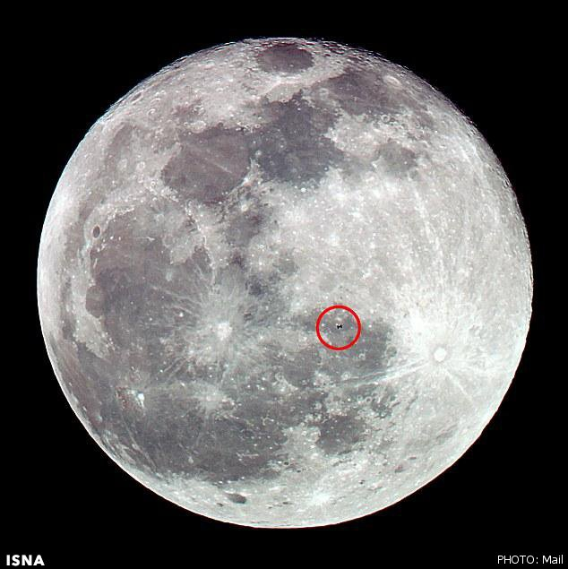 تصویر عبور ایستگاه فضایی از مقابل ماه