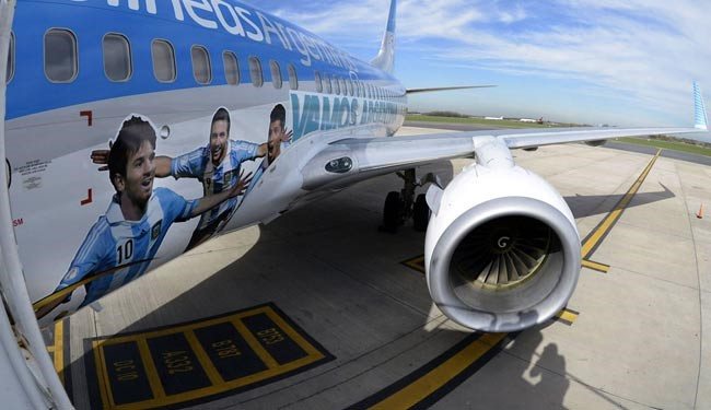 هواپیمای اختصاصی تیمملی آرژانتین