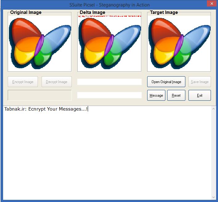 نرم افزاری برای مخفی کردن و رمزگذاری پیام و متن در دل تصویر