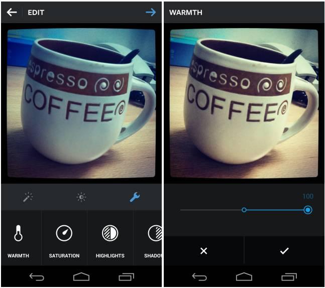 شش قابلیت جدید ویرایشی در Instagram نسخه 6