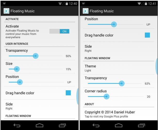 کنترل سریع پخش موسیقی در گوشی هوشمند