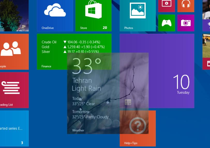 با قابلیت های جذاب Start Screen در ویندوز 8.1 آشنا شوید + فیلم
