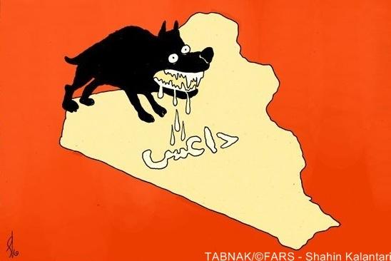 کارتون : داعش، تهدید جدی امنیت اعراق
