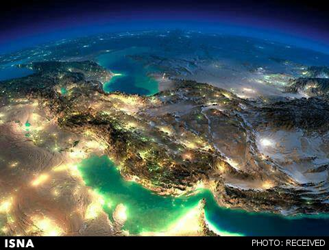 عکس زیبای ماهوارهای از ایران