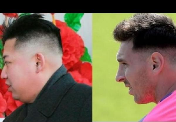 شباهت عجیب مسی و رهبر کرهشمالی + عکس