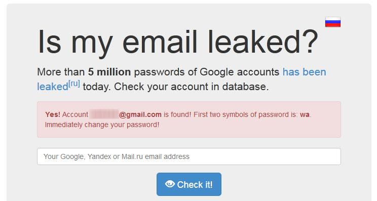 اطلاعات پنج میلیون حساب کاربری Gmail لو رفت!