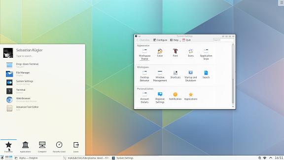 زیبایی های یک دسکتاپ لینوکسی را در KDE 5 ببینید