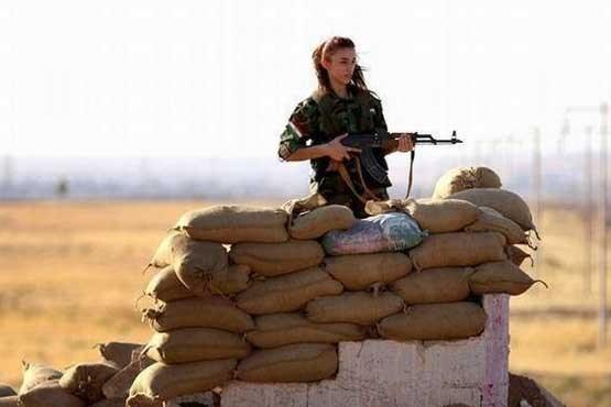نبرد زنان کوبانی با داعش