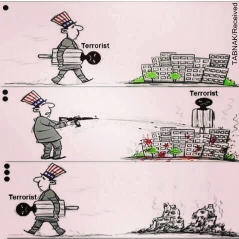 کارتون/ مبارزه منحصر بفرد آمریکا با تروریسم