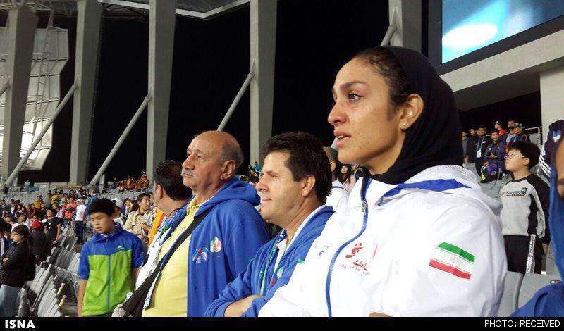 اشکهای سپیده توکلی در مراسم اهدای مدال