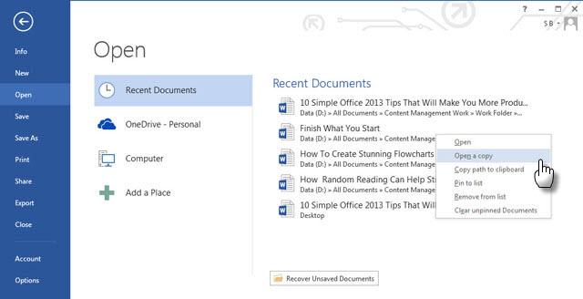 پنج نکته جدید کاربردی در 2013 Office Word