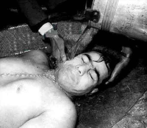 تنها عکس پیکر بی جان تختی بعداز قتل