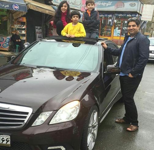 خودرو شهرام جزایری پس از ۱۳سال حبس