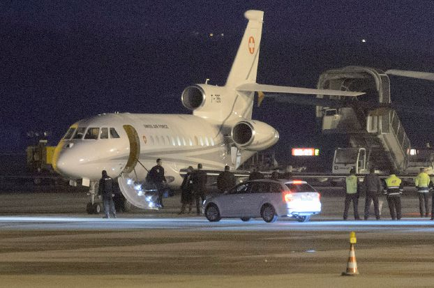 هواپیمای ویژه سوئیس برای انتقال زندانیان