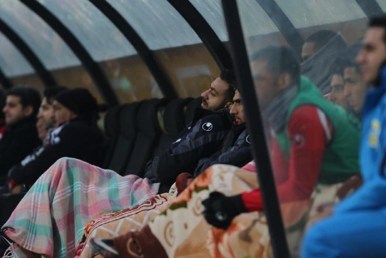 قیافه دمق سوشامکانی روی نیمکت پرسپولیس