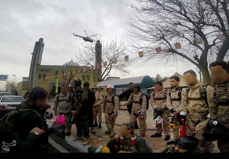 سقوط آزاد شهید مدافع حرم در ۲۲ بهمن