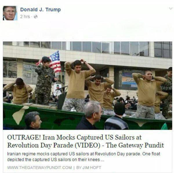 ترامپ: ایرانی ها ما را به تمسخر گرفتند