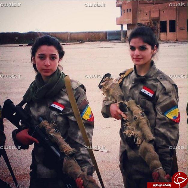 دختران سوری تک تیرانداز بلای جان داعش