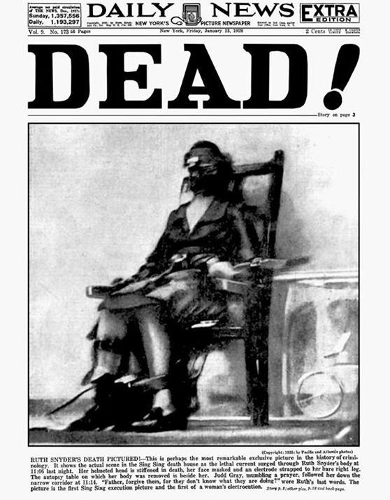 اولین عکس از یک اعدام با جریان الکریسیته