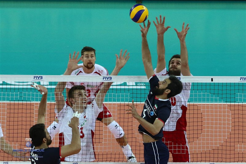 سومین شکست متوالی 3-1 ایران در لیگ جهانی