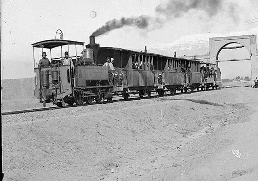 تصویر اولین قطار در ایران