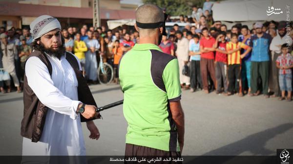 شلاق زدن جوان عراقی توسط داعش