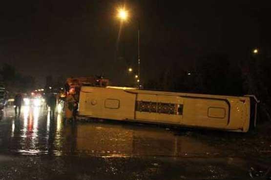 اتوبوس راهیان نور دانشآموزان دختر واژگون شد