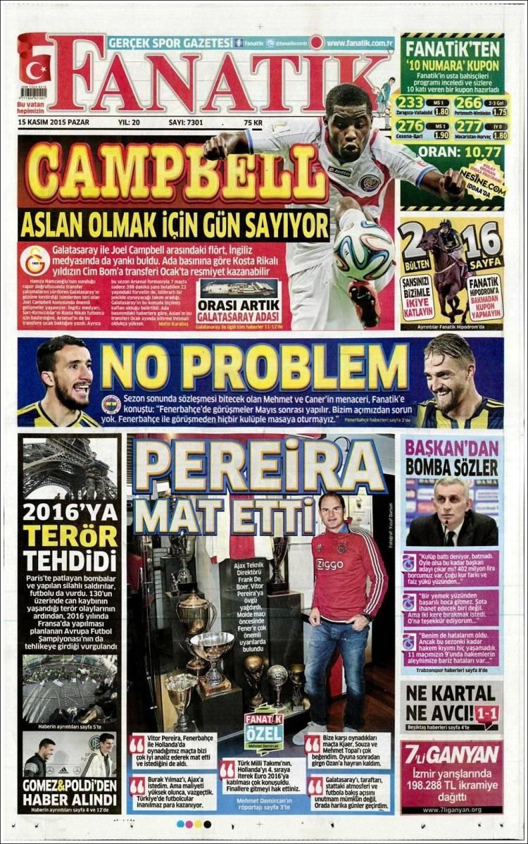 روزنامه های ترکیه/ یکشنبه 15 نوامبر